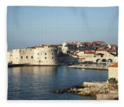 Dubrovnik In Croatia Fleece Blanket