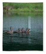 Duck Pond Fleece Blanket