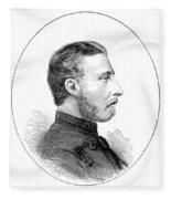 Duke Of Connaught (1850-1942) Fleece Blanket