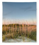 Dunes To Lighthouse Fleece Blanket