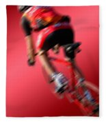 Dynamic Racing Cycle Fleece Blanket