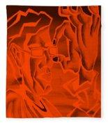 E Vincent Orange Fleece Blanket