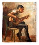 Eakins' Study For Negro Boy Dancing -- The Banjo Player Fleece Blanket