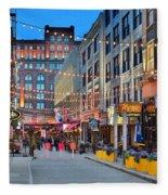 East Fourth Street In Cleveland Fleece Blanket