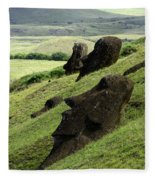 Easter Island 17 Fleece Blanket