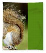 Eastern Gray Squirrel Fleece Blanket
