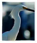 Egret Of Matlacha 2 Fleece Blanket