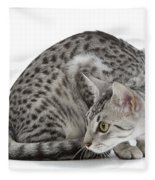 Egyptian Mau Cat Fleece Blanket
