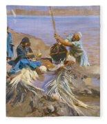 Egyptians Raising Water From The Nile Fleece Blanket