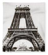 Eiffel Tower Construction Fleece Blanket