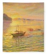 El Nido Sunrise Fleece Blanket