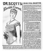 Electric Corset, 1882 Fleece Blanket