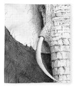 Elephant Study Fleece Blanket