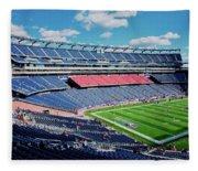 Elevated View Of Gillette Stadium, Home Fleece Blanket