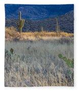 Engelmanns Prickly Pear Cactus Fleece Blanket