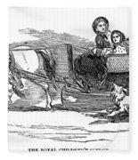 England Royal Sledge, 1854 Fleece Blanket