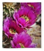 Engleman's Hedgehog Cactus Fleece Blanket
