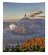 eruption at Gunung Bromo Fleece Blanket