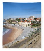 Estoril Beach In Portugal Fleece Blanket