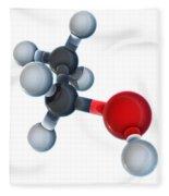 Ethanol Molecular Model Fleece Blanket