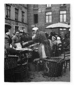 Europe Market, C1910 Fleece Blanket