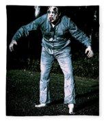 Evil Dead Horror Zombie Walking Undead In Cemetery Fleece Blanket