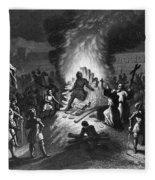 Execution Of Atahualpa Fleece Blanket