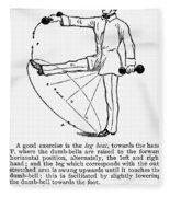 Exercise, 19th Century Fleece Blanket