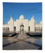 Exterior View Of Sheikh Zayed Grand Fleece Blanket
