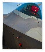 F-22 Raptor Jet Fleece Blanket