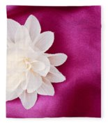 Fabric Flower Fleece Blanket