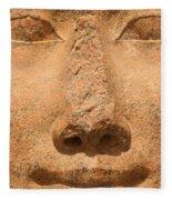 Face Of Hathor Fleece Blanket