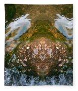 Faces In Water II Fleece Blanket