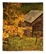 Fall At The Farm Fleece Blanket