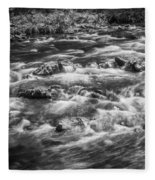 Fall Colors Stream Great Smoky Mountains Painted Bw Fleece Blanket