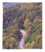 Fall Drive In The Smokies Fleece Blanket