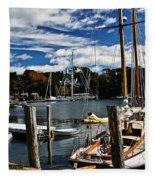 Fall In The Harbor Fleece Blanket