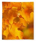 Fall Maple Leaves Fleece Blanket
