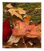 Fall Moss Carpet Fleece Blanket
