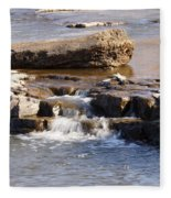 Falls Park Waterfall Fleece Blanket