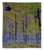 Fantasy Forest Art Fleece Blanket