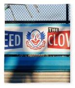 Feed The Clown Fleece Blanket