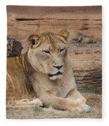 Female African Lion Fleece Blanket