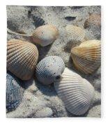 Fernandina Shells  Fleece Blanket