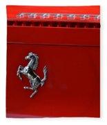 Ferrari Horse Fleece Blanket