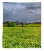 Fields Of Rapeseed In Lower Silesia Fleece Blanket