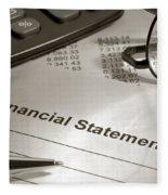 Financial Statement On My Desk Fleece Blanket