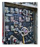Fireman Control Panel Fleece Blanket