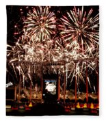 Fireworks At Kauffman Stadium Fleece Blanket