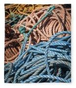 Fishing Ropes Fleece Blanket